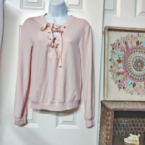 Garage Blush Lace crewneck